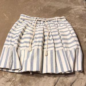 NWOT Madewell Linen Striped Skirt